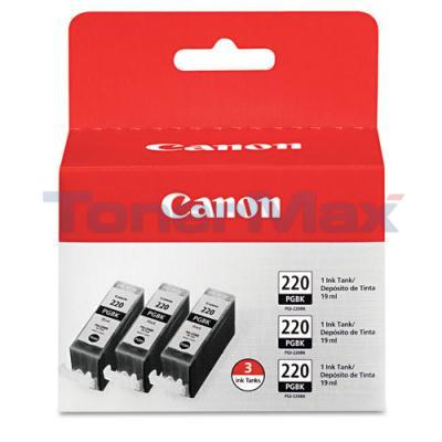 CANON PGI-220 INK TANK BLACK 3PK